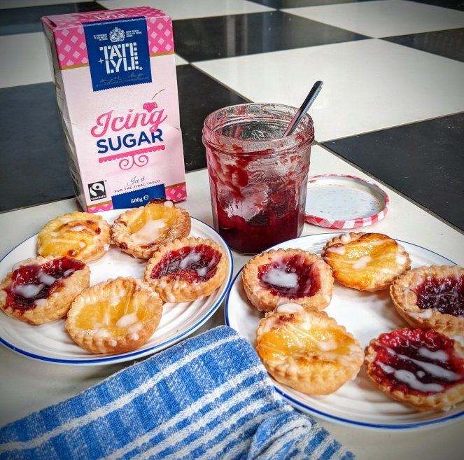 gluten free sugar glazed jam tarts lemon curd sickly mama blog