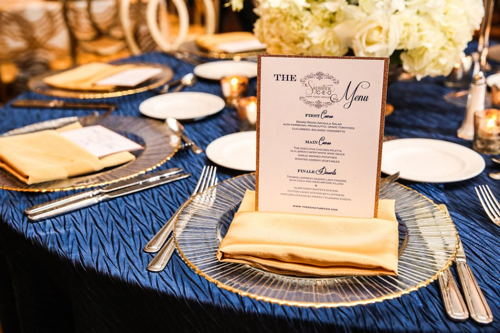 Menu Cards by Perfect Planning Events