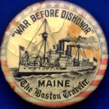 Patent memorabilia like this button by Whitehead & Hoag Co. were persuasive in appealing to patriotism for war support.