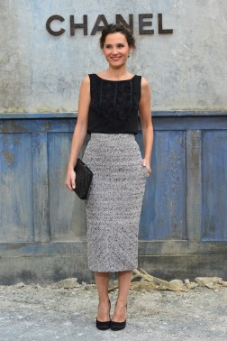 attends the Chanel show as part of Paris Fashion Week Haute-Couture Fall/Winter 2013-2014 at Grand Palais on July 2, 2013 in Paris, France.