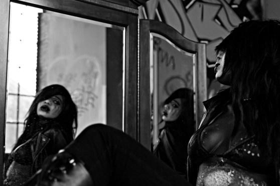 Mirror mirror on the wall...Jade Marshall. Graffiti Warehouse. Baltimore, MD