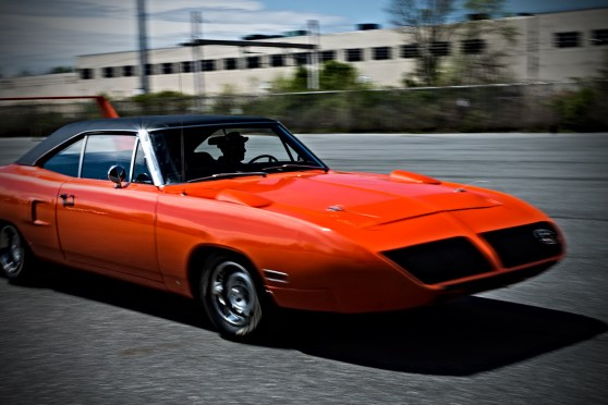1970 Plymouth Superbird driven by Kevin Kelly. Simeone Museum Demo Day: Form Follows Function, How Tech Drives Beauty. Philadelphia, PA