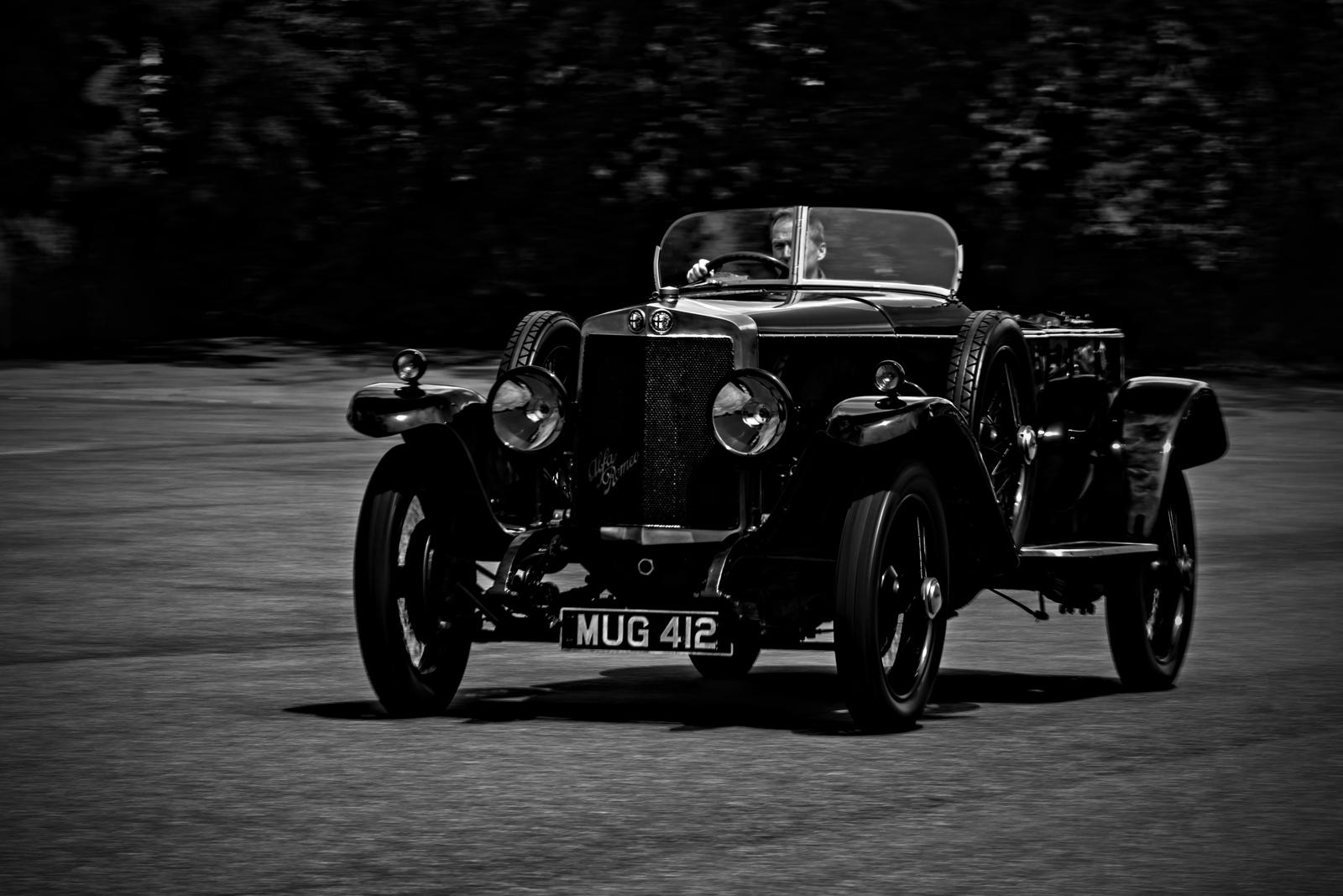 1925 Alfa Romeo RLSS driven by Kevin Kelly. Simeone Foundation Automotive Museum. Philadelphia, PA