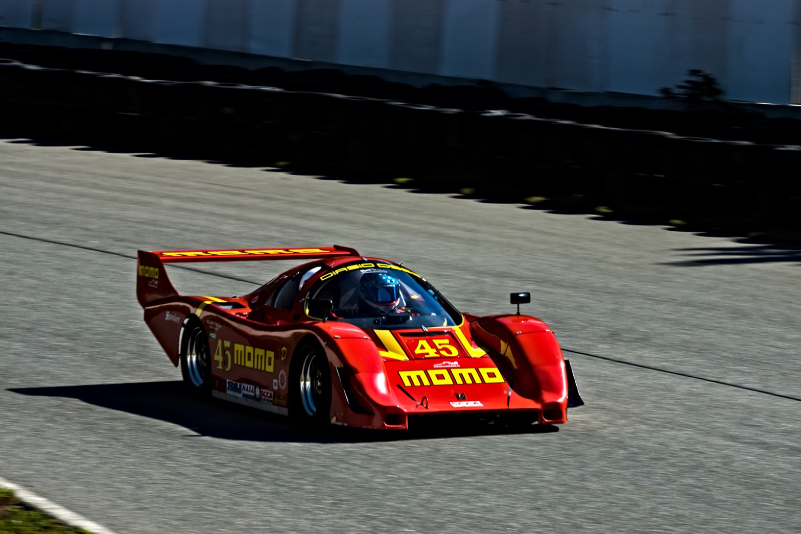 Diasio D962 race car by Race Cars for a Cause. The D962 is based on Porsche's 962 race car. Palmer Motorsports Park, MA