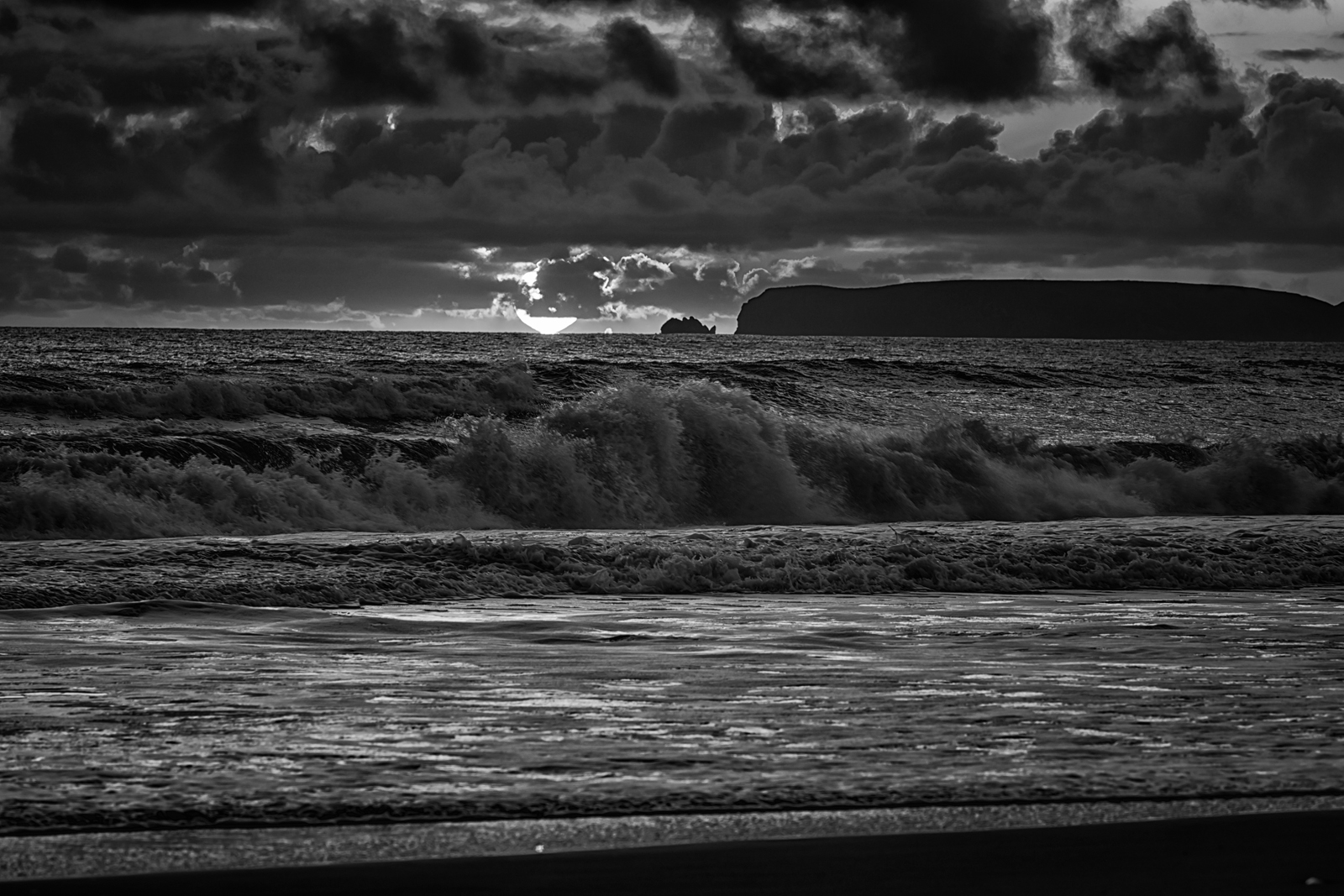 Sunset on Limantour Beach. Point Reyes National Seashore, CA