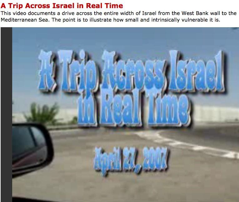 A Trip Across Israel in Real Time (Live Leak video) | the