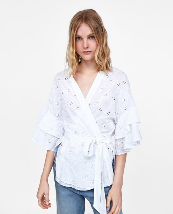 Zara_white wrapped blouse