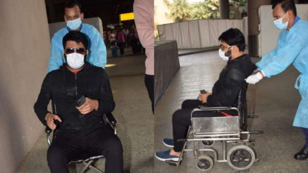 """Kapil Sharma lashes out at Paparazzi as they rush to photograph him on wheelchair-""""Ullu ke Patthe"""""""