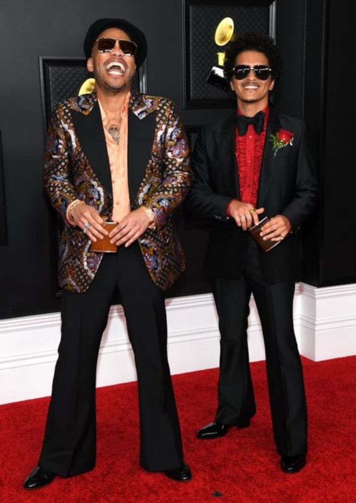 Look at Bruno Mars and Anderson.Paak looking so fly in their dope outfits!
