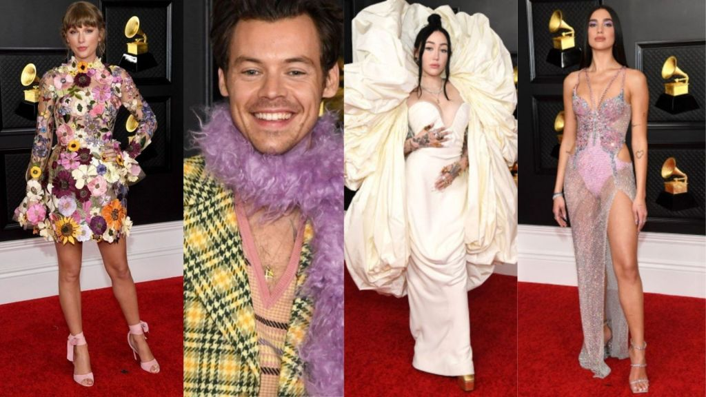 Grammys 2021 Top 10 Dresses: Check out Taylor Swift's floral-net dress, Harry Styles dress, and other stunning dresses from Grammys