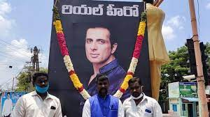 Sonu Sood showered with milk by Chittoor people for his relentless help amid Covid-19 pandemic