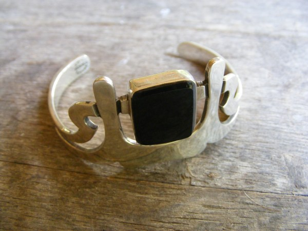Square Onyx Cuff Bracelet – Vintage Mexican