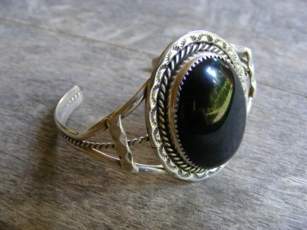 Navajo Onyx Cuff Bracelet
