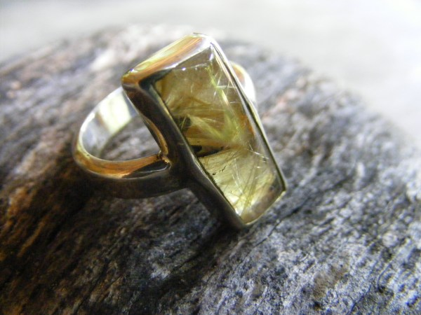 Free-Form Rutilated Quartz Ring