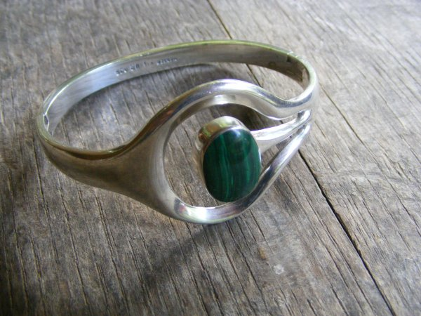 Malachite Floating Bracelet – Vintage Mexican