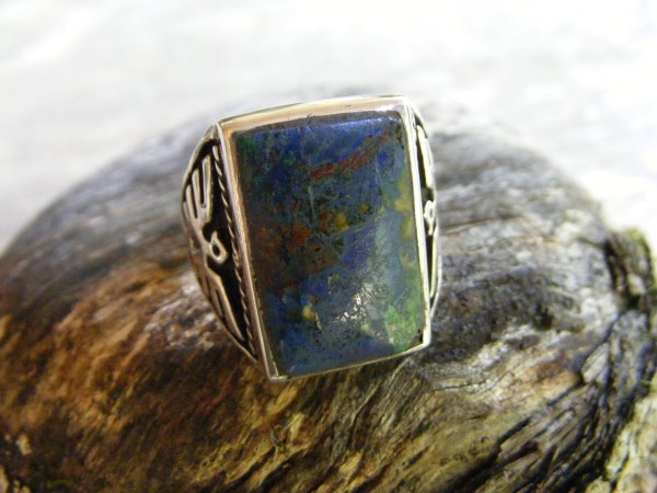 Navajo Thunderbird Azurite Ring