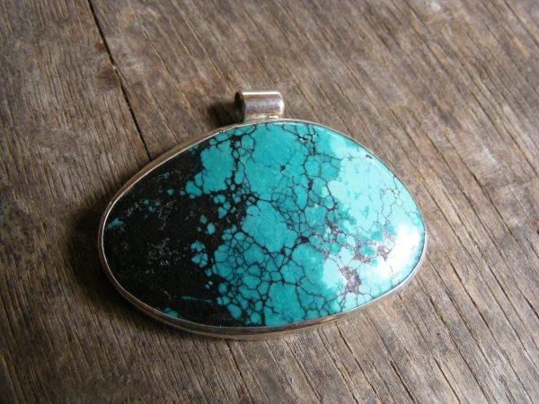 Turquoise Large Free-form Pendant