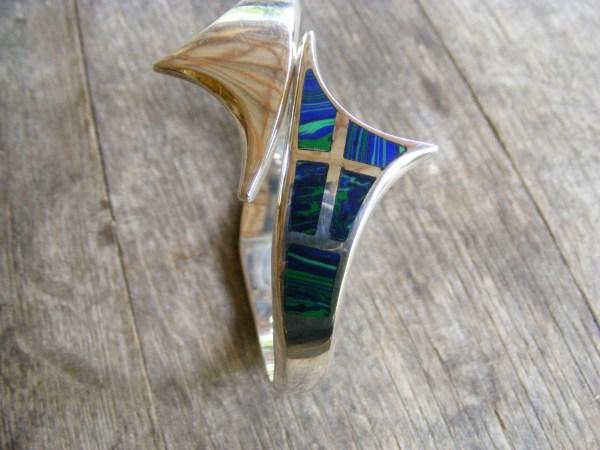 Azurite Mosaic Clamper Bracelet – Vintage Mexican