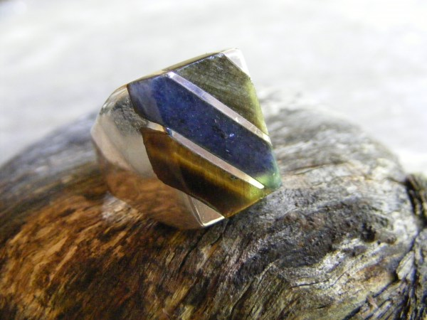 Square Multi-Stone Ring – Vintage Mexican