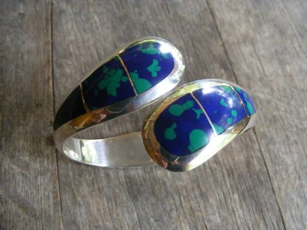 Azurite Clamper Bracelet – Vintage Mexican