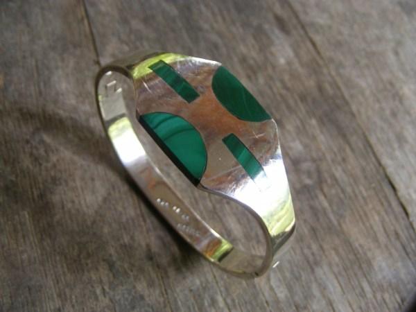 Malachite Retro Bracelet – Vintage Mexican