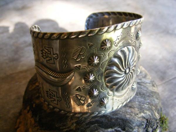 Navajo Wide Stamped Bracelet