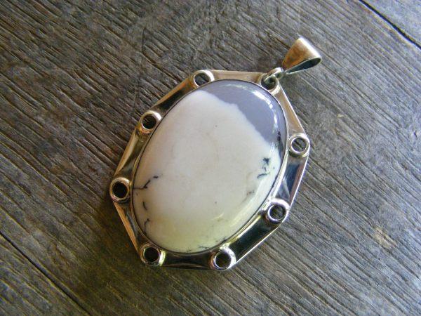 Porthole Chalcedony Pendant
