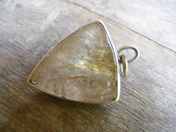 Pyramid Rutilated Quartz Pendant