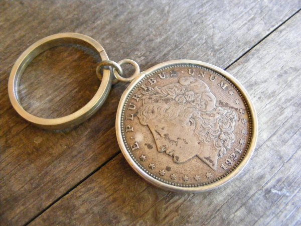Silver Dollar Key Ring – Large Ring Morgan