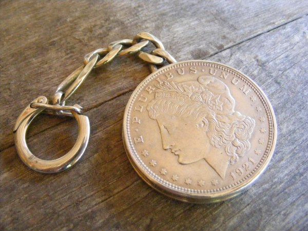 Silver Dollar Key Ring 2