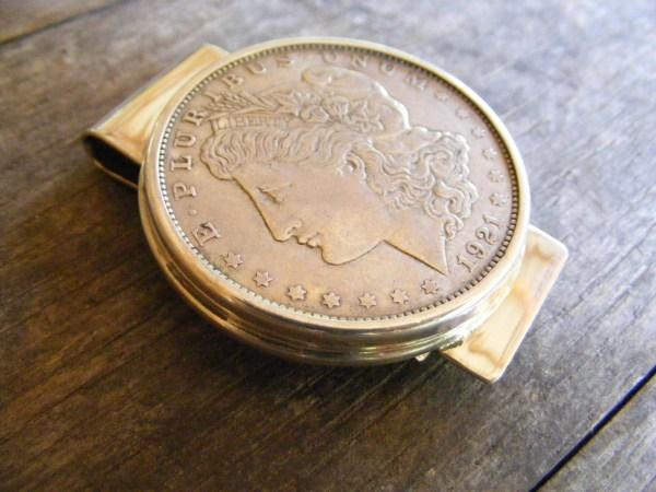 Silver Dollar Wide Money Clip