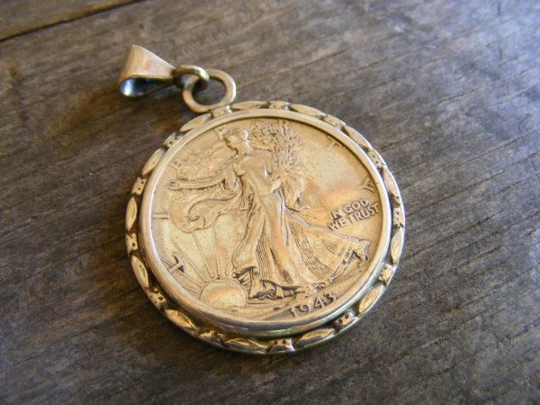 Marquis Walking Liberty Pendant