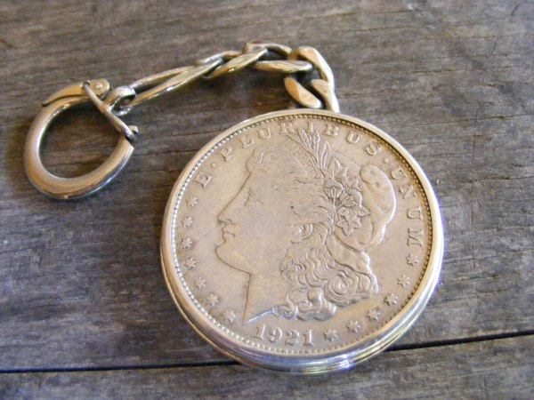 Silver Dollar Key Ring – Small Ring