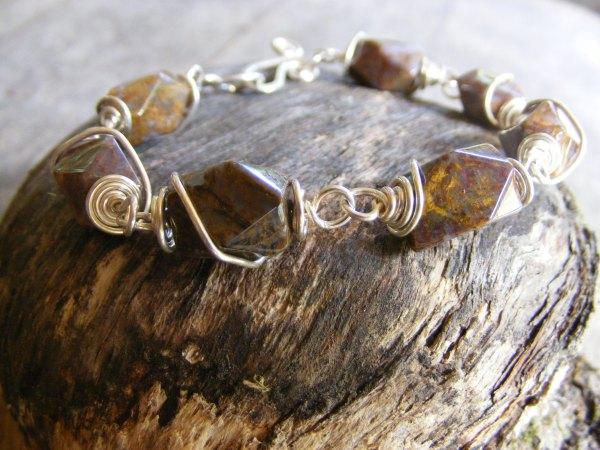 Pietersite Spiral Bracelet