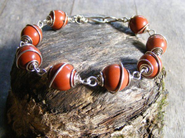 Red Jasper Spiral Bracelet