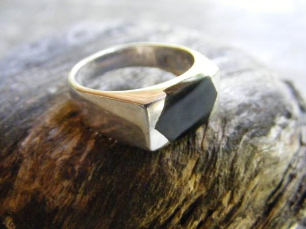 Diamond Shaped Onyx Ring