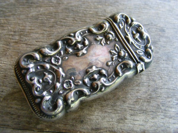 Art Nouveau Victorian Match Safe Pin