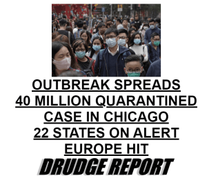 coronavirus propaganda from Drudge Report