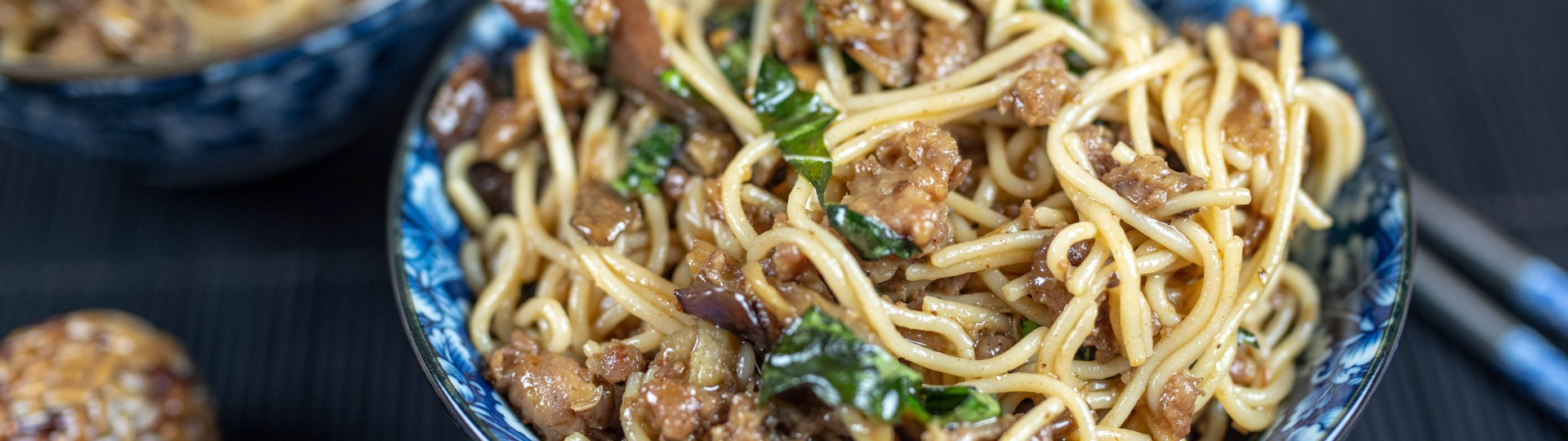 Chinese Cooking at Home: Szechuan Pork with Eggplant and Mushrooms