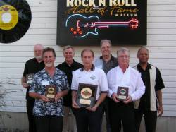 Here they are in 2010 when Sunday Social was inducted into the Iowa R&R Hall of Fame. Art and Bob are on the far right.