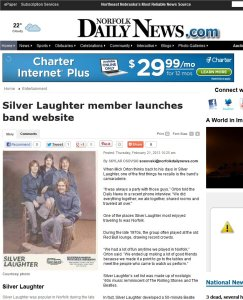 The newspaper features an article on Silver Laughter.