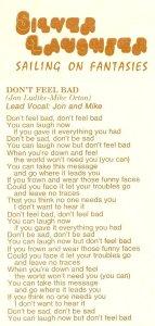 """Lyrics for """"Don't Feel Bad"""""""