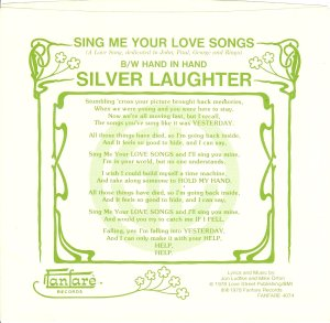 Sing Me Your Love Songs Cover