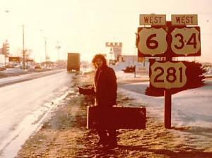 Mark on the road in Hastings, NE