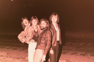Silver Laughter 1979 - Ken's head, Mick, Paul and Jon