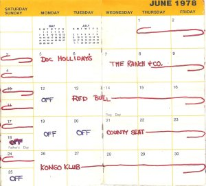 June 1978-Silver Laughter calendar