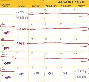 August 1978 calendar