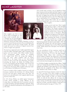 IRRMA Silver Laughter program bio 2014