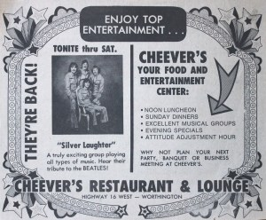 Cheever's ad