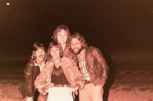 Silver Laughter 1978 - Ken, Jon (top), Mick (below) and Paul